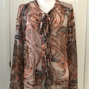 🆕 Listing: Anthropologie Meadow Rue sheer blouse